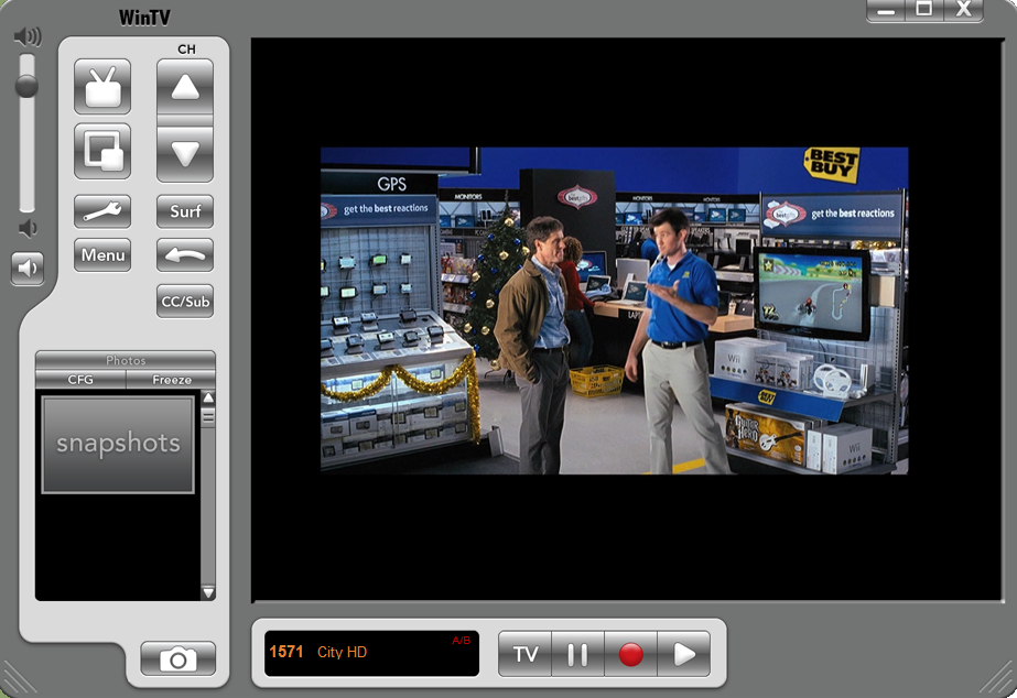 WinTV HDTV Screenshot